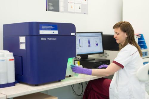 Flowcytometrické stanovení CD34 znaků z pupečníkové krve a stanovení vitality buněk